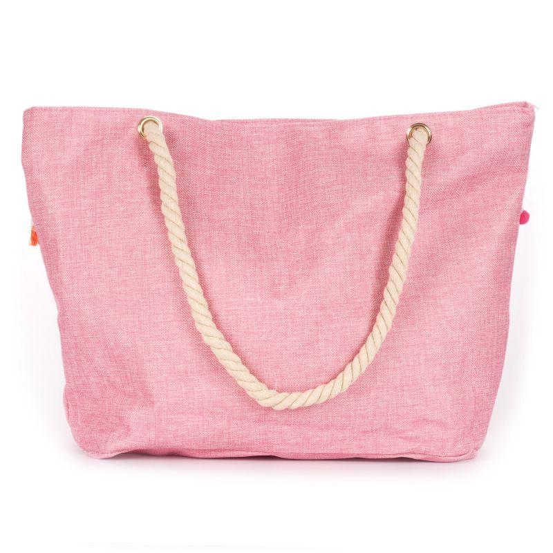 sac cabas boho rose pompons color s sac de plage cabas pompon cabas ethnique. Black Bedroom Furniture Sets. Home Design Ideas