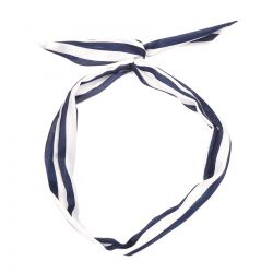 Bandeau cheveux Rayé bleu marine - Bandeau Vintage