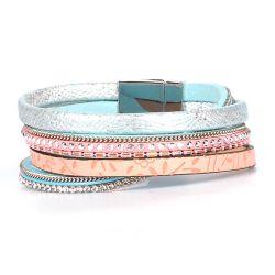 Bracelet Manchette Aimanté Pastel - Bracelet Femme