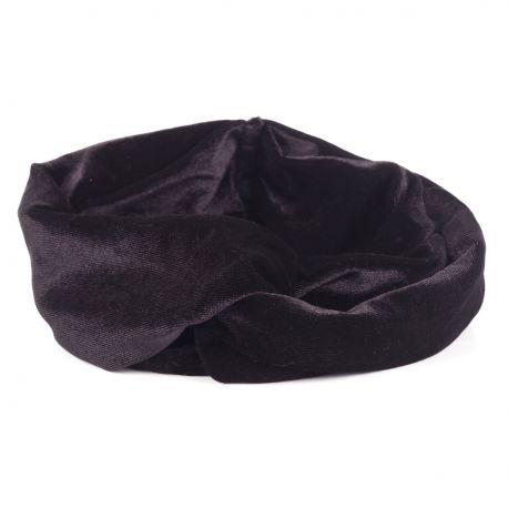 Bandeau Large - Bandeau Cheveux Velours Noir
