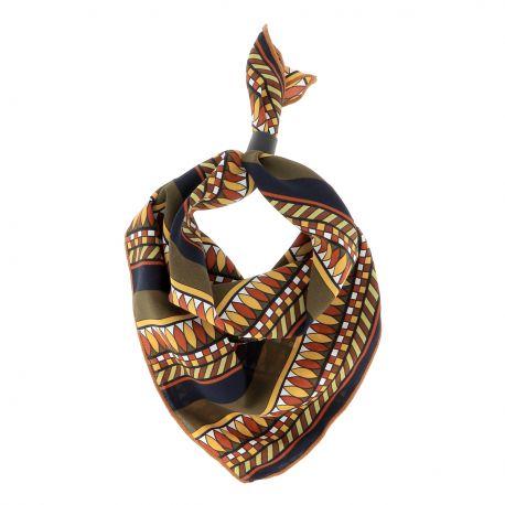 Bandana Ethnique Kaki - Foulard Femme