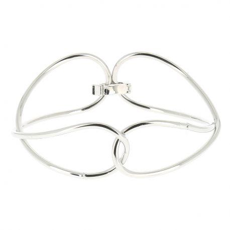 Bracelet Jonc Double Argenté - Bracelet Argenté