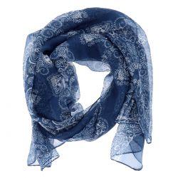 Foulard Voile Bleu marine Imprimé - Etole Femme