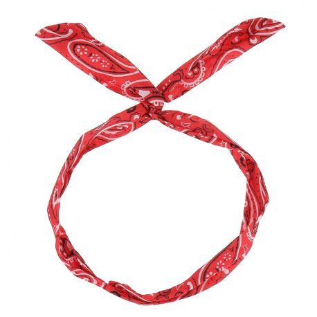 Bandeau à Nouer Rouge Paisley - Bandeau Vintage