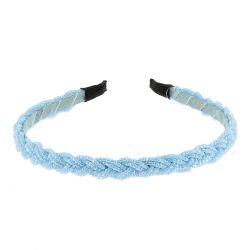Serre tête Perles Tressées Bleu ciel