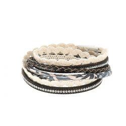 Bracelet Multirang Aimanté Noir - Bracelet Wrap