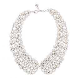 Collier Plastron Perles Nacrées - Collier Mariage