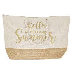 Sac Cabas Doré Summer - Sac de Plage
