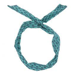 Bandeau à Nouer Bleu turquoise Ethnique - Bandeau Ethnique Cheveux