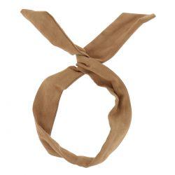 Bandeau à Nouer Suédine Camel - Bandeau Cheveux - Accessoire cheveux