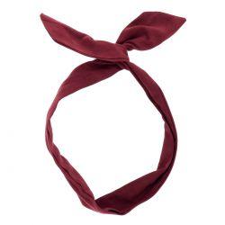 Bandeau à Nouer Suédine Bordeaux - Bandeau Cheveux - Accessoire Cheveux