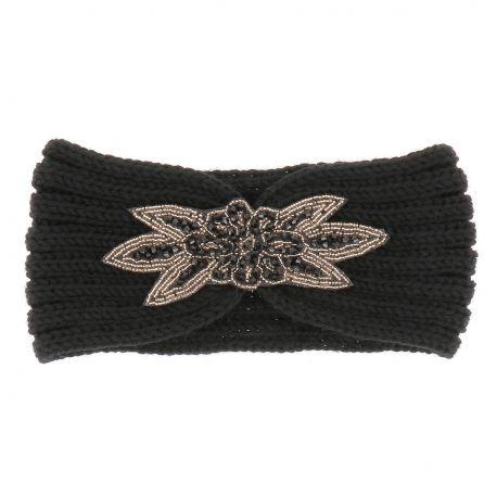 Bandeau Maille Bijoux - Bandeau Maille Noire Perles