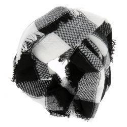 Echarpe Oversize Carreaux Noir et Blanc - Foulard Femme Carreaux