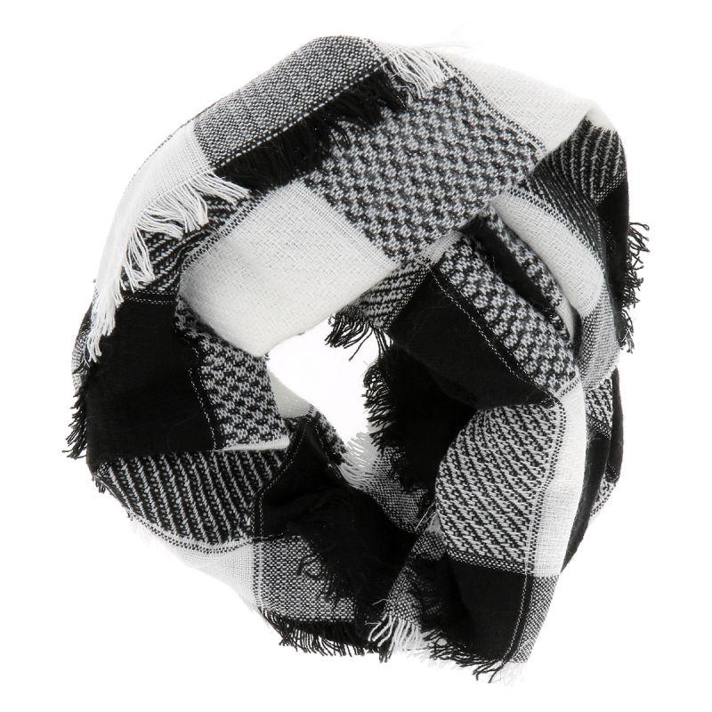 208cb5a04cf4 Echarpe Oversize Carreaux Noir et Blanc - Foulard Femme Carreaux
