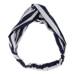 Bandeau Rayé Bleu marine et Blanc - Bandeau Cheveux