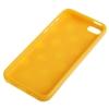Coque Iphone 5C Orange à pois blancs