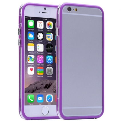 Bumper Iphone 6 plus Transparent et Violet