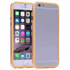 Bumper Iphone 6 plus Transparent et Orange