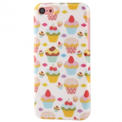 Coque Iphone 5C motif Cupcakes