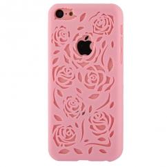 Coque Iphone 5C Rose sculptures fleurs