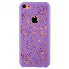 Coque Iphone 5C Parme sculptures fleurs