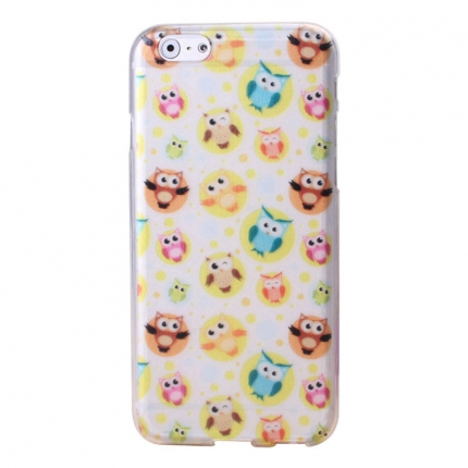 Coque Iphone 6 Nacré motif hiboux n°2