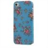 Coque Iphone 4 / 4S Bleue Motif Fleurs