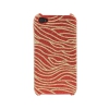 Coque Iphone 4 / 4S Rouge vague paillette