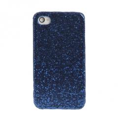 Coque Iphone 4 / 4S Strass Bleu navy