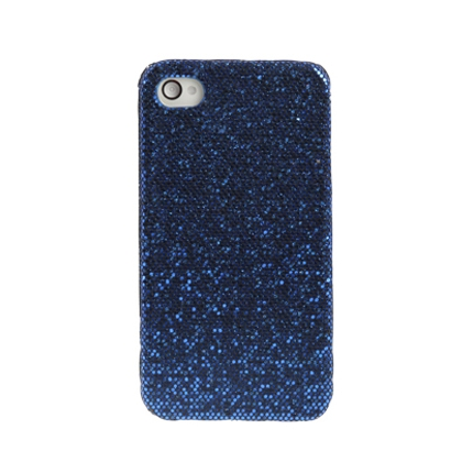 Coque Iphone 4 / 4S Strass Bleu navy