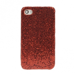Coque Iphone 4 / 4S Strass Rouge