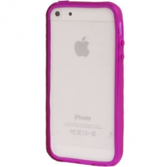 Bumper Iphone 5 / 5S Transparent violet
