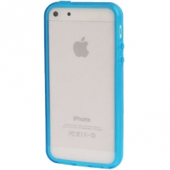Bumper Iphone 5 / 5S Transparent bleu