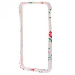 Bumper Iphone 5 / 5S Blanc à fleurs