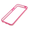 Bumper Iphone 5C Transparent et Rose vif