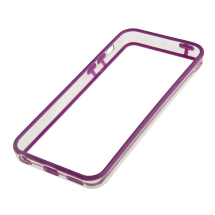 Bumper Iphone 5C Transparent et Violet