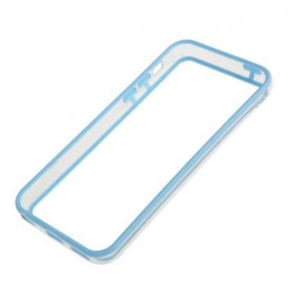 Bumper Iphone 5C Transparent et Bleu ciel