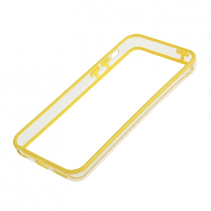 Bumper Iphone 5C Transparent et Jaune