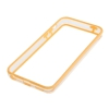 Bumper Iphone 5C Transparent et Orange