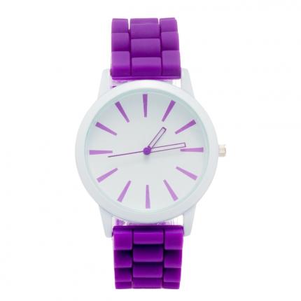 Montre silicone violette