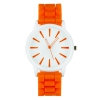 Montre silicone orange