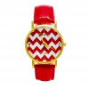 Montre rouge Chevron