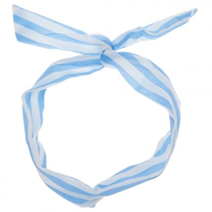 Bandeau cheveux Rayé bleu ciel - Bandeau Vintage