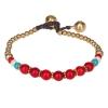 Bracelet ethnique perle rouge - Bracelet Perle