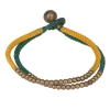 Bracelet double perle jaune