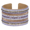 Bracelet manchette pastel perle lavande - Bracelet Perle