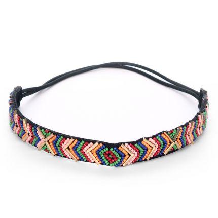 Headband ethnique perles colorées - Headband Perle