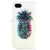 Etui portefeuille Iphone 4 / 4S Ananas