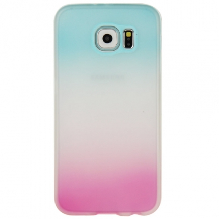 coque galaxy s6 silicone rose