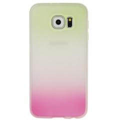 Coque Samsung Galaxy S6 silicone Dégradé vert et rose